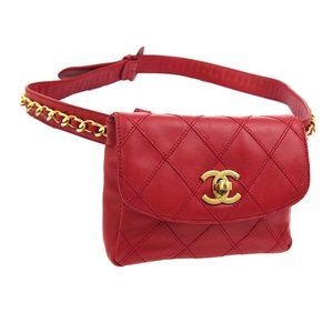 CHANEL Cosmos Line CC Chain Waist Bum Bag Purse Re